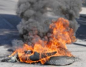 quema de gomas