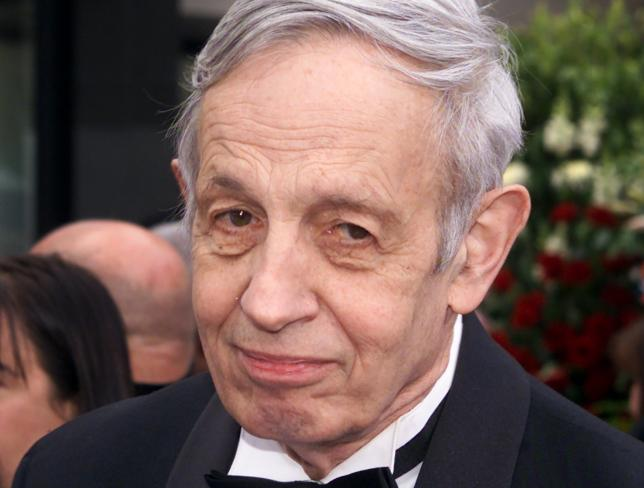 Nobel Prize winner John Forbes Nash arrives to the 74th Annual Academy Awards in Los Angeles, California