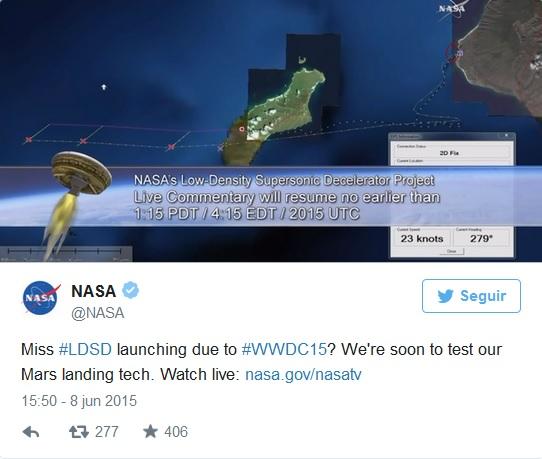 NASA MARTE TUIT