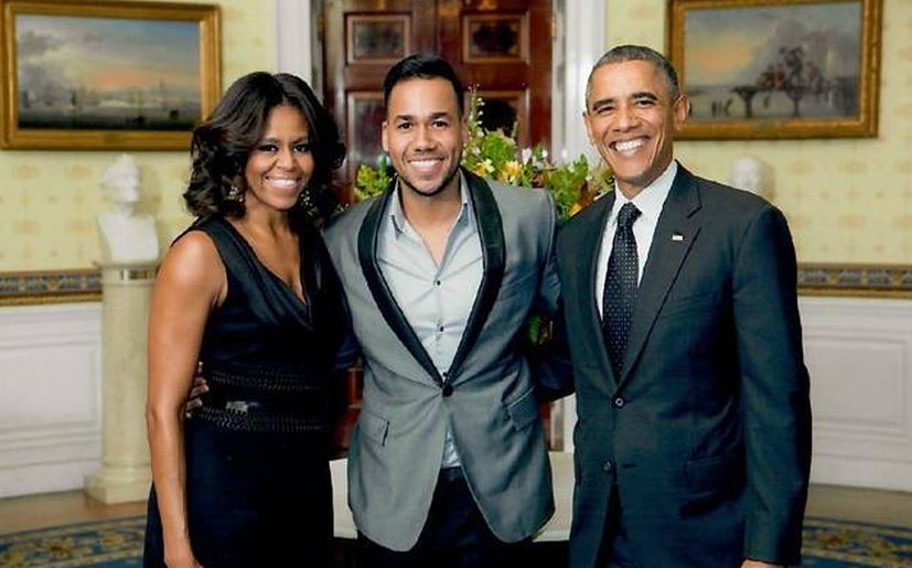 obama y michell