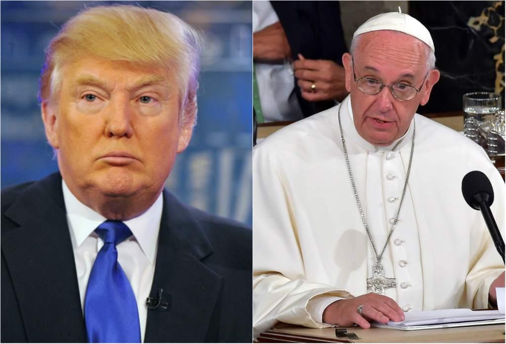 """Trump: """"El Papa es un hombre muy humilde, se parece mucho a mí, lo que probablemente explica por qué me agrada tanto"""""""