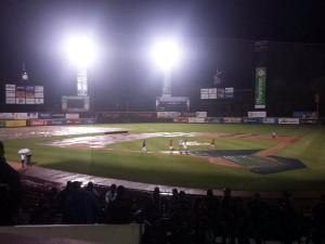 Posponen por lluvia el partido de este lunes entre Águilas y Gigantes