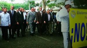 Autoridades UASD marchan al Congreso Nacional contra Examen Único De Competencia