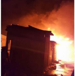 Incendio mercado de Dajabon