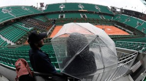 Suspenden por lluvias todos los partidos del Roland Garros