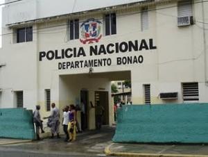 Sede de la PN en Bonao.(Foto de archivo)
