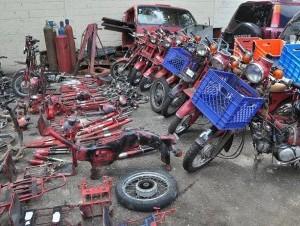 Motocicletas recuperadas por la Policía (archivo)