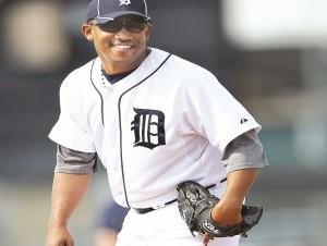 El lanzador dominicano Octavio Dotel