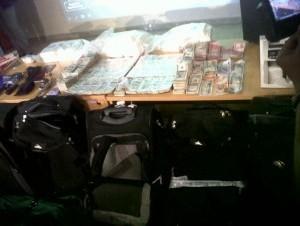 Dinero incautado a red de narcotráfico que movió más de $US70 millones.