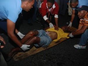 Accidente en el Quinto Centenario.