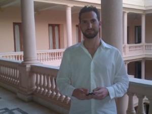 Karim Abu en el Palacio Nacional.