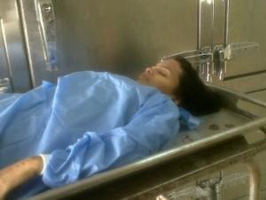 Cadáver de Beatriz del Rosario.