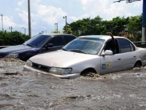 Fallos en el sistema de desagüe provocan inundaciones en el elevado.
