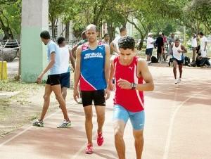 Luguelin Santos se entrenó el 26 de enero en el país.