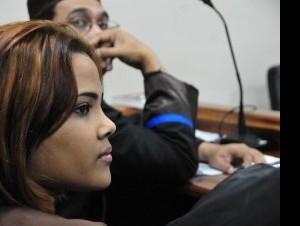 Martha Heredia durante la audiencia contra vakeró.