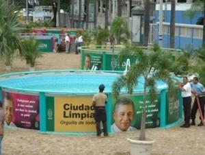 Piscina artificial en Plaza Güibia.