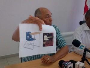 Imagen del pupitre supuestamente plagiado.