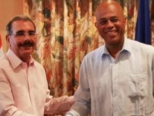 Danilo Medina y Michel Martelly