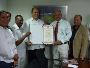 Desde la izquierda Félix Guzmán, Félix López, Daniel Ozuna y Roberto Valentin.