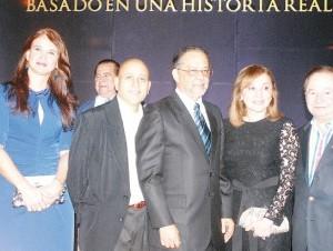 La premier fue organizada por ejecutivos de la compañía Orange Dominicana y el personal de la película.