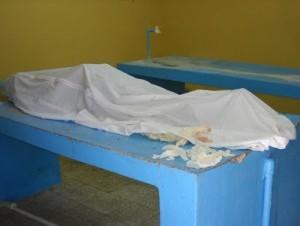 Cuerpo del fallecido en operativo de la DNCD en Juancho.