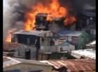 Fuego en Santiago.