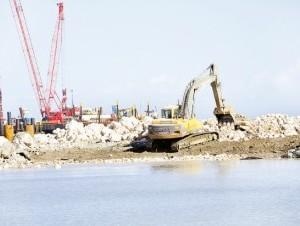 Está adelantada la construcción de un muelle de cruceros en Puerto Plata.