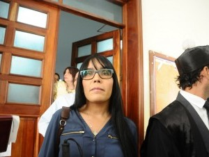 Francina Hungría a su salida del tribunal.