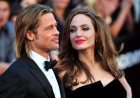 Angelina Jolie y Bratt Pitt.