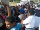 Choferes protestan en Santiago.