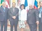 Roberto Rosario junto a otros miembros de UNIORE en Chile.