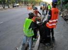 Brigadas de Obras Públicas recogieron los desperdicios arrojados en los laterales de la importante vía, tras una denuncia de elCaribe.
