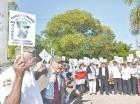 Manifestación contra los haitianos.