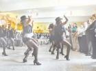 Reclusas de Najayo Mujeres durante una actividad cultural.