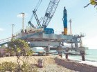 Parte de las obras civiles que integran el proyecto Punta Catalina.