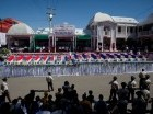 Miembros del gobierno y familiares asisten al funeral de las 17 víctimas que murieron en un accidente en el carnaval de Haití, en Puerto Príncipe.
