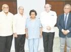 Vicente Vargas, Fernando Sánchez Martínez, María Nerys Pérez, Fernández García Bodden y Leandro Abreu Larancuent.