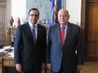 Navarro e Insulza en la OEA.