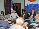El ministro de Cultura, José Antonio Rodríguez, con el equipo organizador.