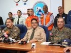 El director del Centro de Operaciones de Emergencias (COE), general Juan Manuel Méndez (centro), durante la rueda de prensa sobre operativos de Semana Santa.