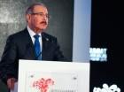 El presidente Danilo Medina habla en el Foro Empresarial.