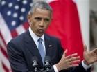 El presidente Barack Obama habla sobre los recientes disturbios en Baltimore durante una conferencia conjunta con el primer ministro japonés Shinzo Abe, el martes 28 de abril de 2015, en el Rosedal de la Casa Blanca en Washington. (Foto AP/Jacquelyn Mart