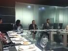Marisol Vicens, Rafel Blanco, Rafael Paz y Cándida Acosta, en el encuentro de ayer.