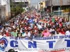 Trabajadores de diferentes centrales sindicales del país marcharon en Santo Domingo, Santiago y otras provincias con motivo a la celebración del 1 de Mayo.