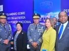 Jefe de PN habla en la actividad realizada en el Palacio de la Policía.