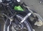 Motocicleta en que se deslizó joven que murió en Montecristi realizando carreras ilegales.