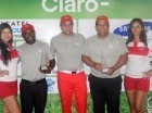 Lino Guerrero y Diógenes Castillo fueron reconocidos por ejecutivos de Claro.