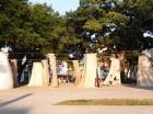 Su obra se expuso en el Parque Trillo, uno de los barrios más populosos.