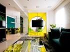 Incluir elementos de tonalidades fuertes puede ayudarte a darle un toque moderno a la decoración base.