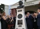 El presidente Medina encabezó el acto para homenajear a Juan Bosch.